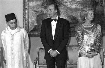 Hassan II y los Reyes de España