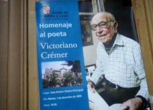 Homenaje al poeta Victoriano Crémer