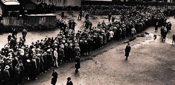 Millones de parados en la Gran Depresión