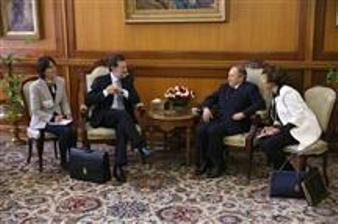 Eunión de trabajo: Rajoy y Buteflika