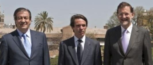 Cascos, Aznar y Rajoy
