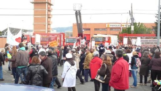 Manifestación en Collado Villalba por la Sanidad Pública