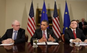 Obama, Barroso y Herman Van Rompuy