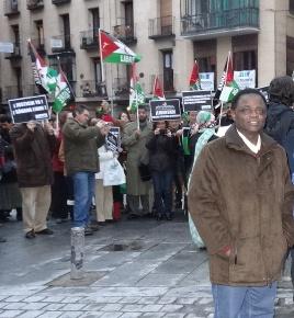 Weja Chicampo con el pueblo saharaui