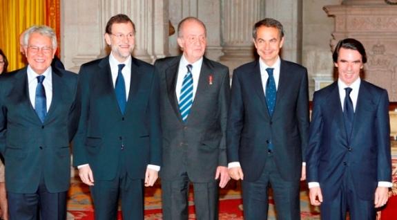 Privatizando que es gerundio: González, Rajoy, Juan CarlosI, Zapatero y Aznar