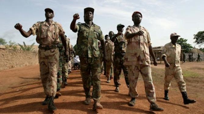 Fuerzas rebeldes en el norte de la República Centroafricana en 2004