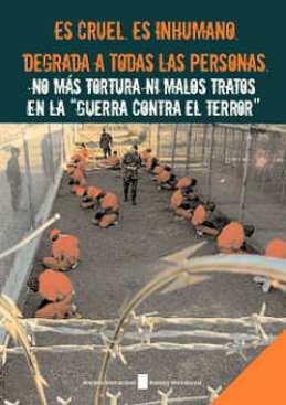 Portada de un folleto de Amnistía Internacional