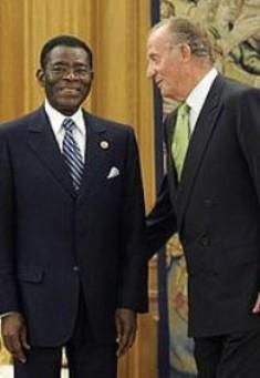Obiang y el rey Juan Carlos