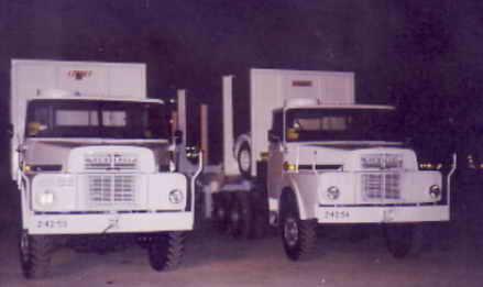 Camiones de CPT robados por la dictadura de Guinea Ecuatorial a la empresa CPT