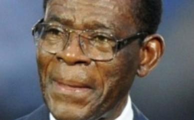 El dictador Teodoro Obiang Nguema