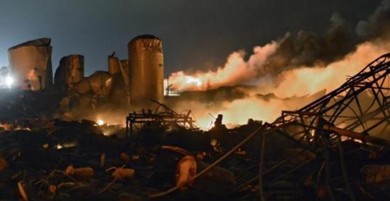 Incedndio y explosiones en la fábrica West Fertilizer Co. Foto Daily News.