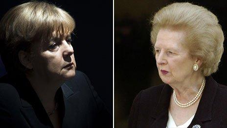 Merkel y Thatcher: foto BBC