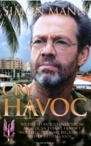 Simon Mann en la portada de su libro.