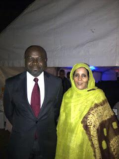 Bethel Nnaemeka Amadi  y Suelma Beiruk, diputada saharaui y vicepresidenta del Parlamento Panafricano