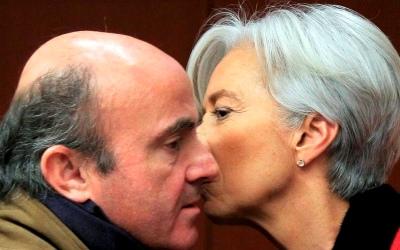 Christine Lagarde da las gracias a De Guindos
