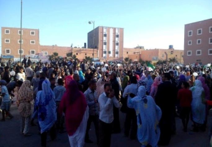 Manifestaciones contra Marruecos en el Sahara