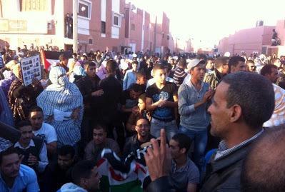Manifestaciones en el Sahara Occidental