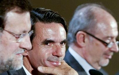Rajoy, Aznar y Rato