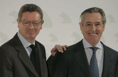 Alberto Ruiz-Gallardón y Miguel Blesa