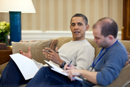Barack Obama y Ben Rhodes. Foto  American Thinker.