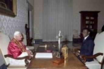 Benedicto XVI y Obiang Nguema