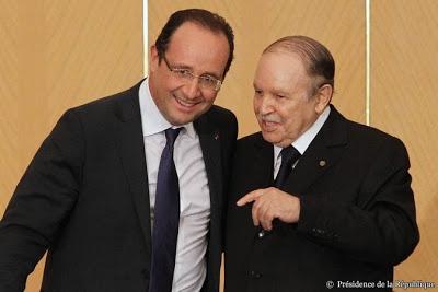 Francois Hollande  y Abdelaziz Buteflika en su encuentro en Argel en diciembre de 2012