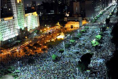 Protestas en Brasil. Foto Univisión