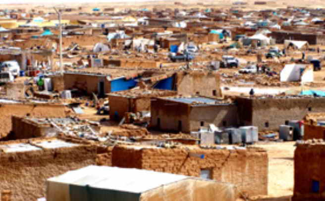 Sahara Occidental campamento de refugiados