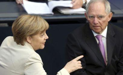Angela Merkel y  Wolfgang Schäuble