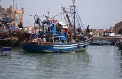 Barcos de pesca en el Sahara Occidental