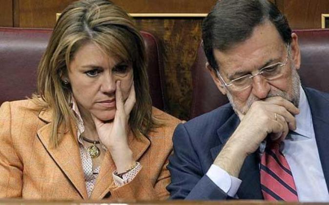 Cospedal y Rajoy, dos columnas de cemento del PP