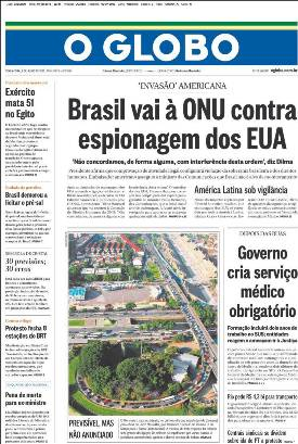 Diario brasileño O Globo