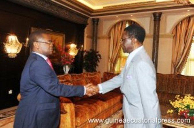 Plácido Micó y Teodoro Obiang en uno de sus habituales encuentros