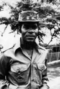 Teodoro Obiang Nguema, cuando era teniente