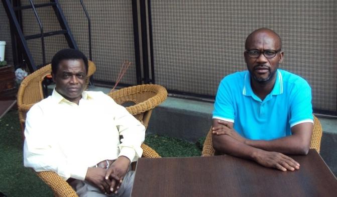 Weja Chicampo y Enrique Nzolo