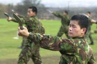 Mercenarios gurkas en el ejército inglés