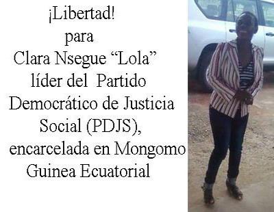 Libertad para Clara Nsegue Ayi, Lola