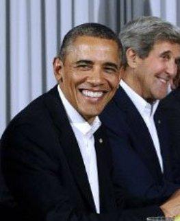 Obama y su Secretario de Estado