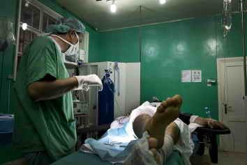 Sala de operaciones de un hospital de MSF en el norte de Siria (provincia de Aleppo).