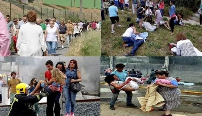 Vecinos de Angrois auxiliando a las víctimas del accidente de tren (Foto: Galicia Única)