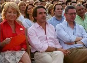 Aguirre, Aznar y Gallardon