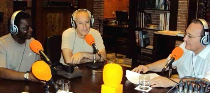 De izquierda a derecha, Weja Chicampo, Eugenio Pordomingo y Javier Castro-Villacañas