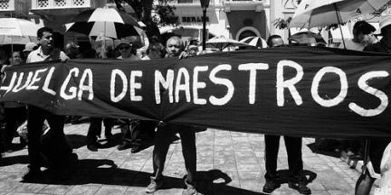 Maestros mexicanos en huelga