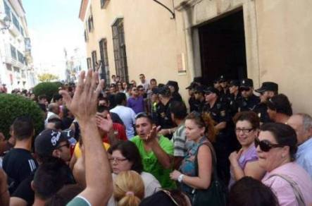 Manifestacion en Almendralejo (Badajoz)