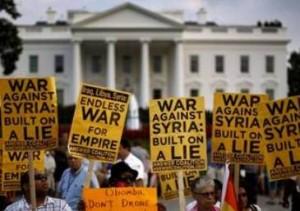 Manifestaciones en USA contra la guerra de Siria