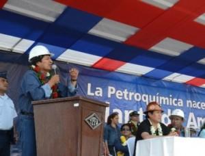 Evo Morales inaugura planta de urea