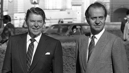 Ronald Reagan y Juan Carlos