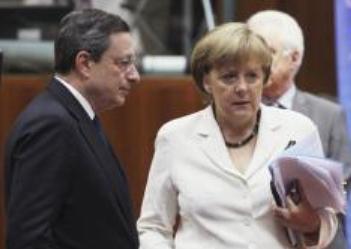 Draghi y Merkel