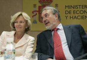 Elena Salgado y Pedro Solbes