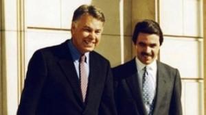 Felipe González y José María Aznar